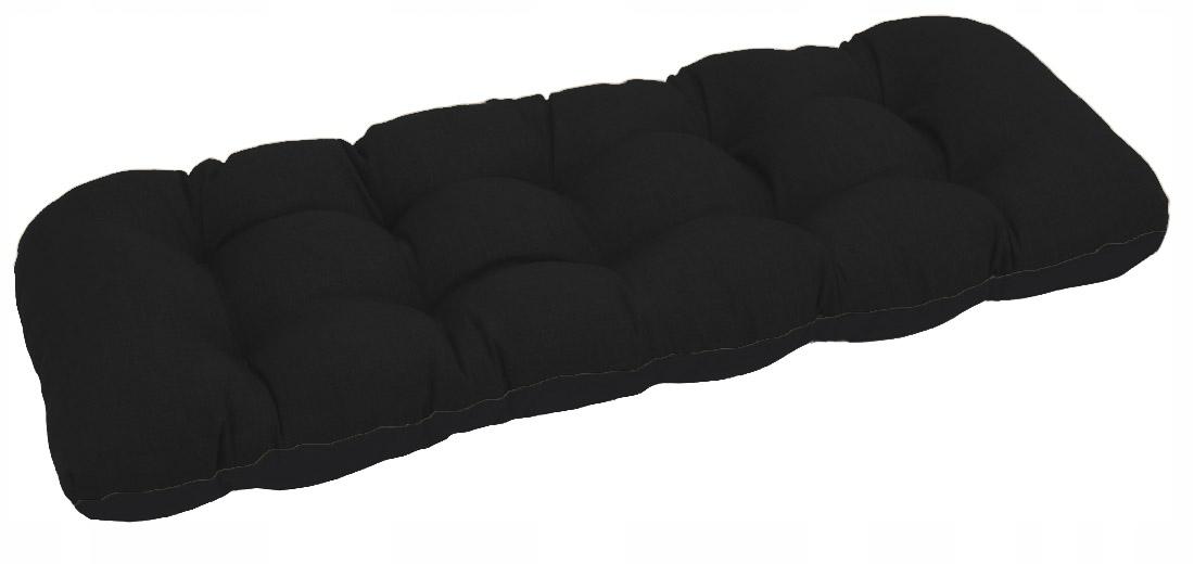 Подушка для садовой качели 180x50 чёрная