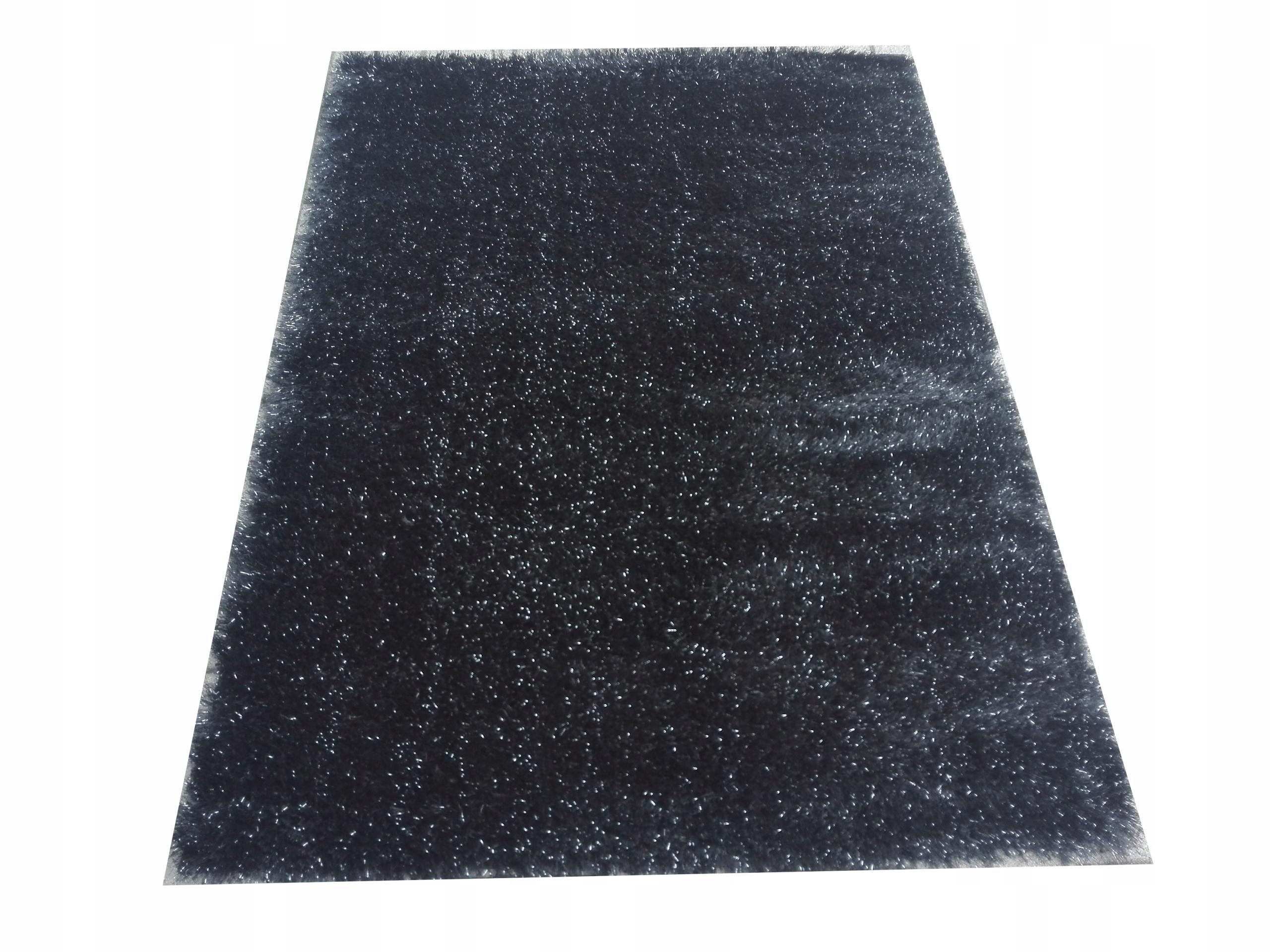 Ковер NEW SHAGGY 120x170 GLITTER BLACK LUREX HIT
