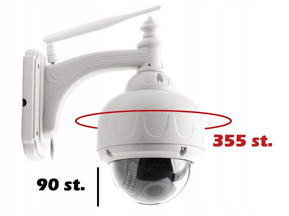 Kamera Zewnętrzna Obrotowa WiFi 5 X ZOOM Optyczny Technologia IP HD-TVI HD-CVI