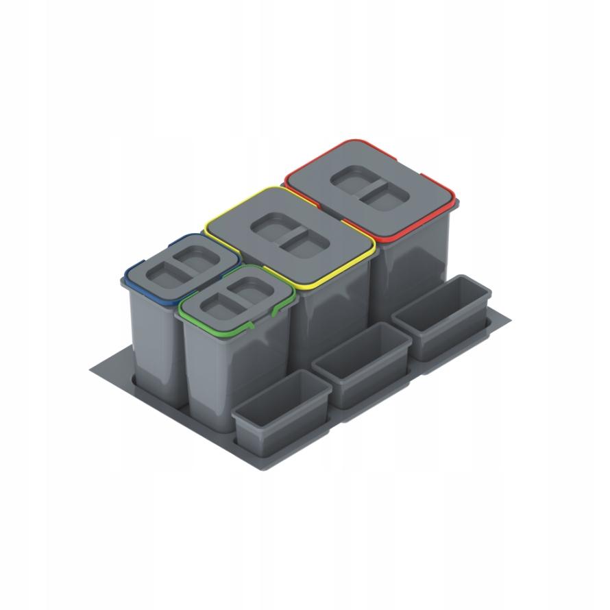 Bin zásuvky PRAKTIKO 80 2x20L+2x9L