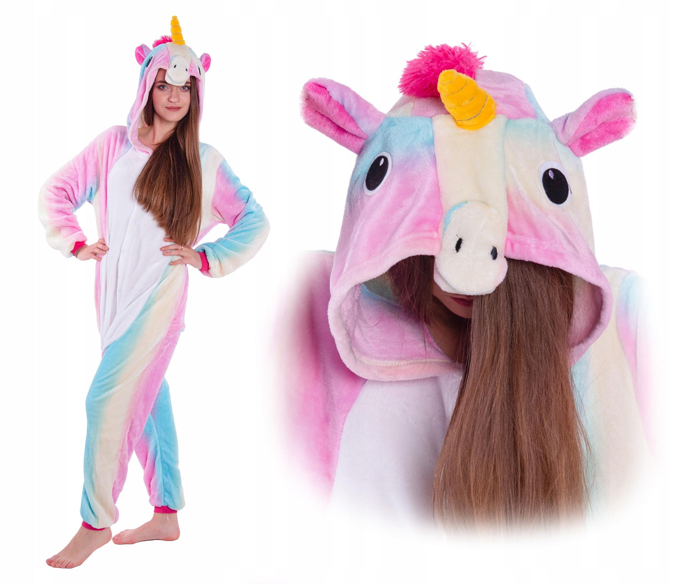 Пижама Unicorn Kigurumi Onesie Rainbow 146 152