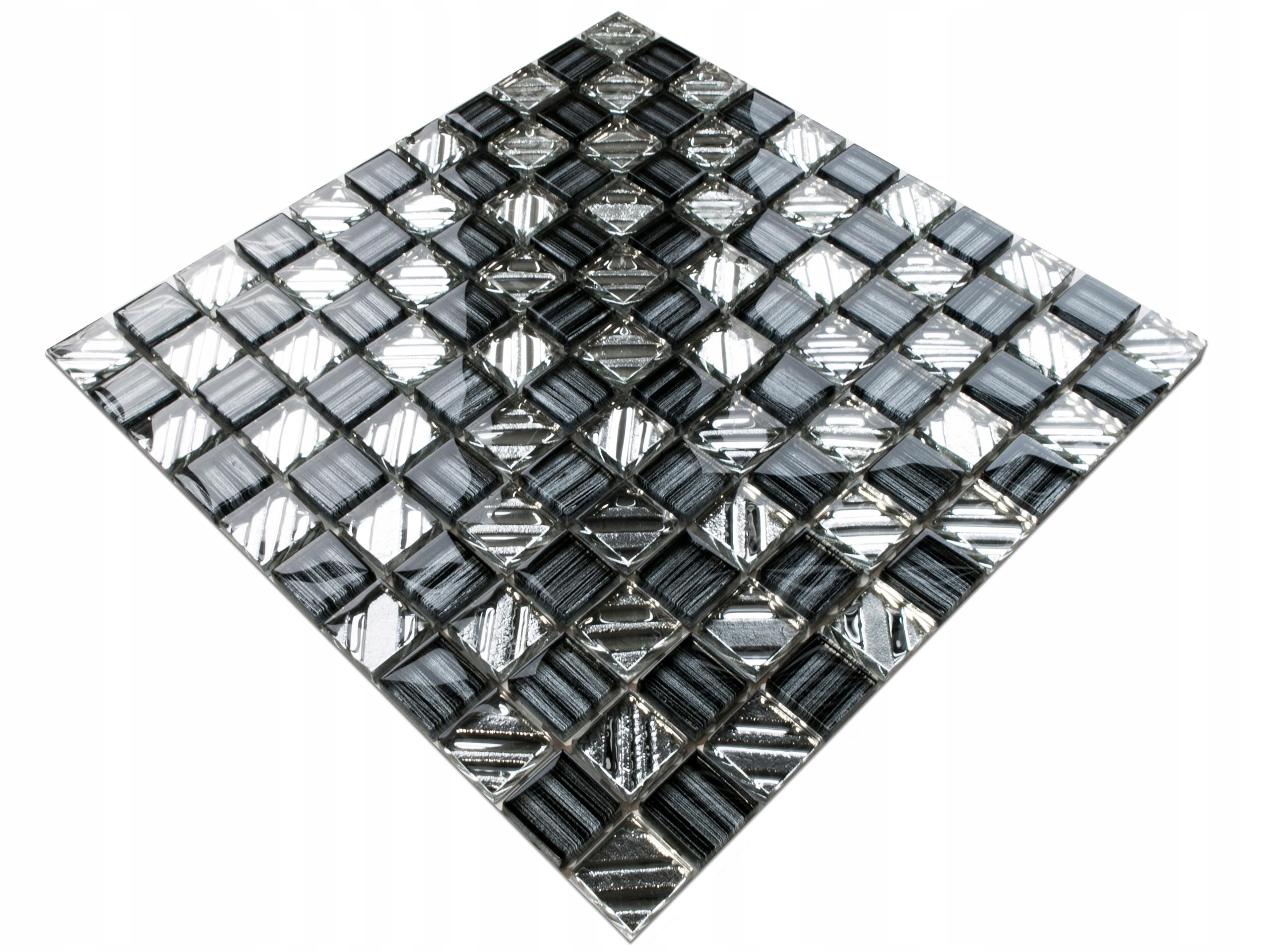 BLACK DIAMOND SKLENENÉ MOZAIKY BLACK SILVER 8 MM