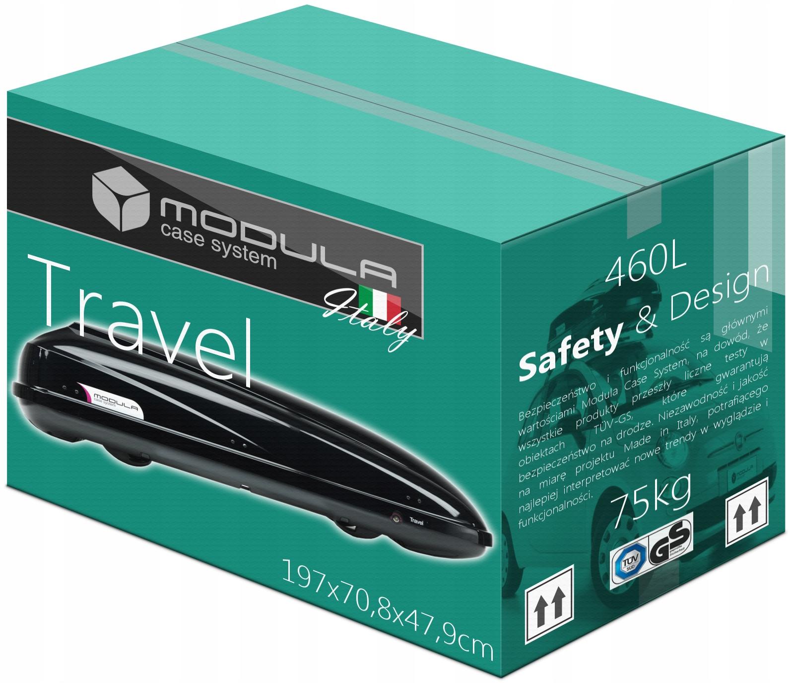 Багажник, крыша BOX MODULA Travel 460L 197x70x48