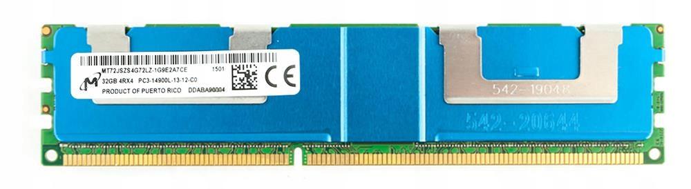 32GB DDR3 PC3-14900L ECC REG. Micron GW. FVAT 8722337350 - Allegro.pl