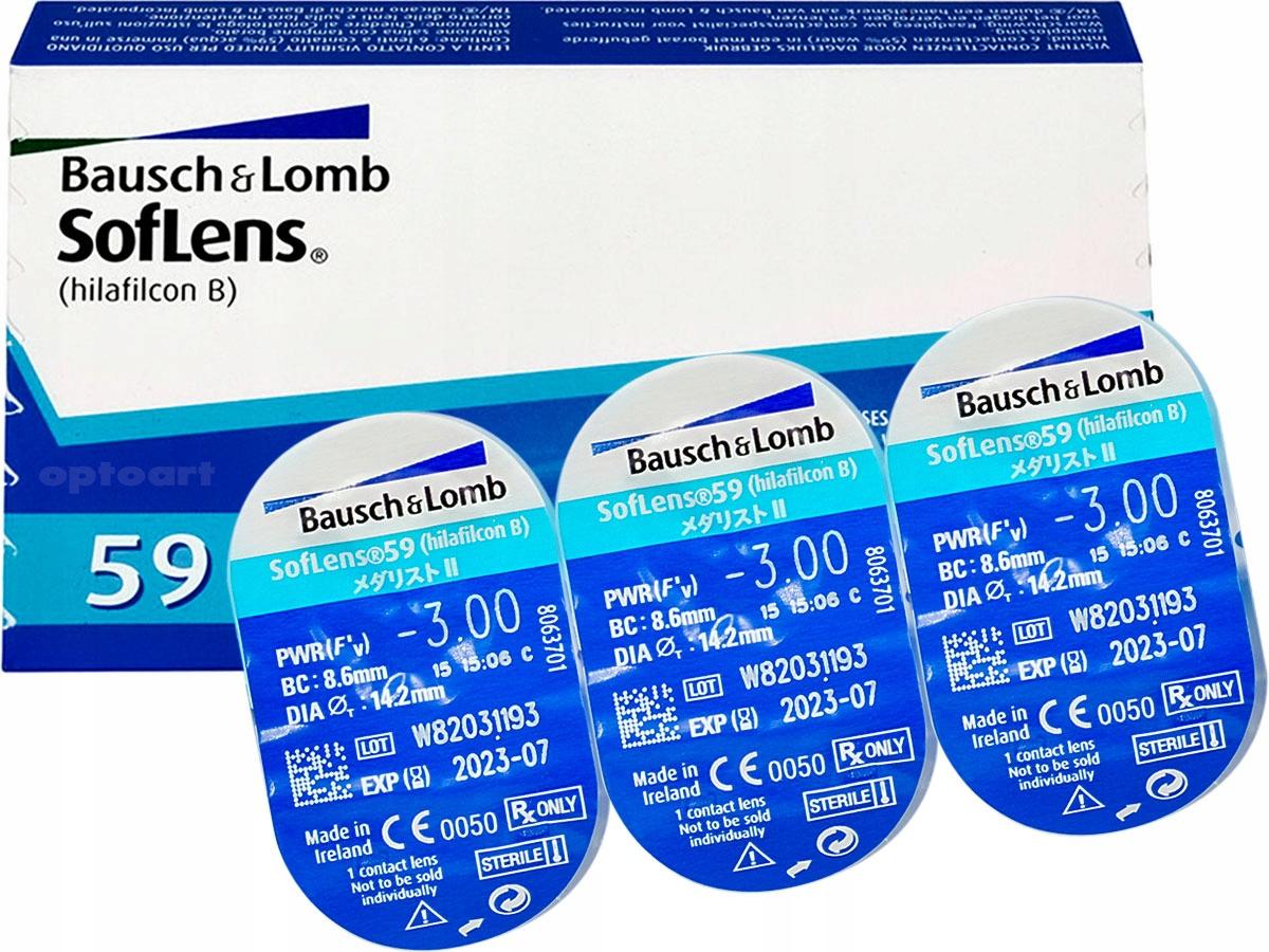 Soflens 59 BAUSCH Kontaktné šošovky 6 ks