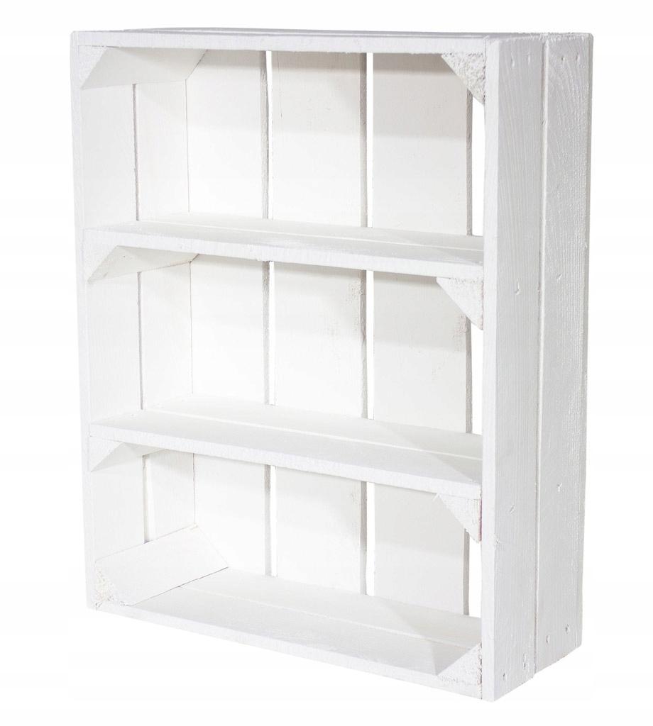 WOODEN BOX WHITE с полкой, книжным шкафом, шкафом