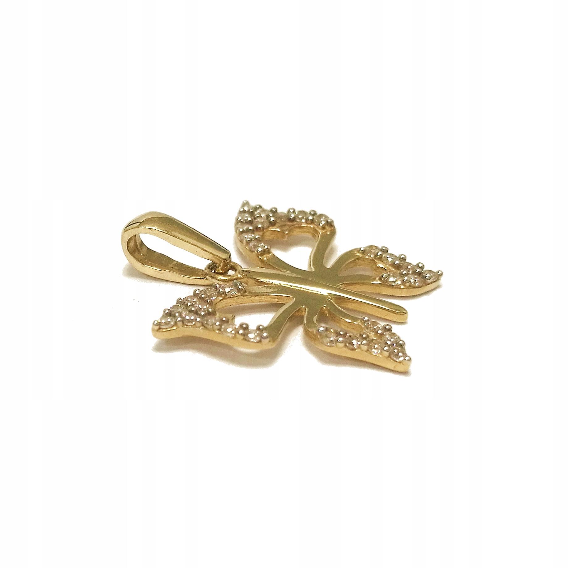 Złota zawieszka motyl motylek 585 133g Malbork 8452400533 gdROzTcd