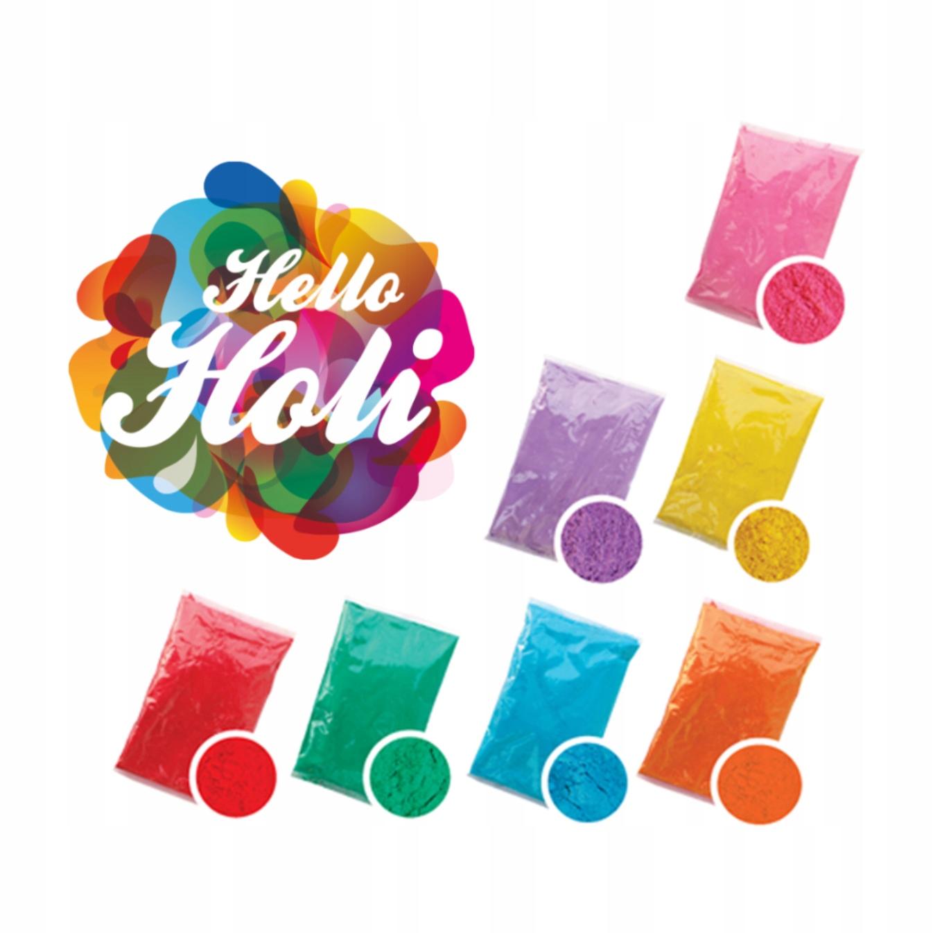 Hello Holi Цвет Пудра Порошок 70Г Фестиваль Холи доставка товаров из Польши и Allegro на русском