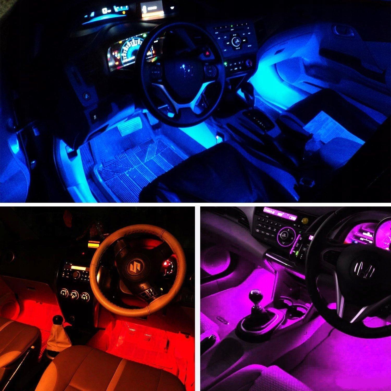 OŚWIETLENIE WNĘTRZA AUTA kabiny samochodu RGB LED
