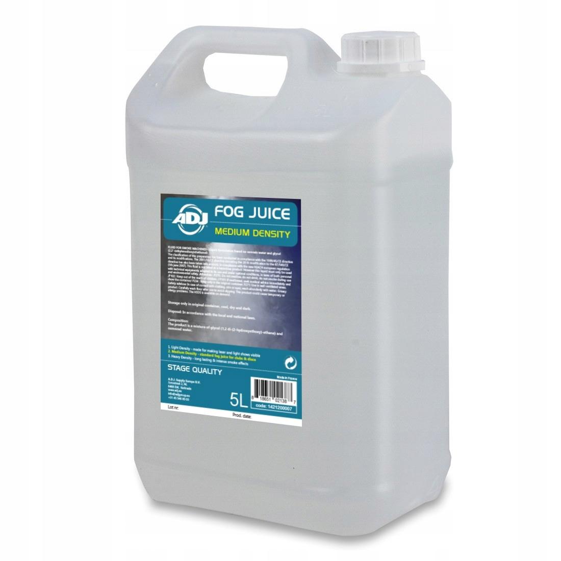 Adj Fog Juice 2 Stredná 5L kvapalina pre generátor dymu