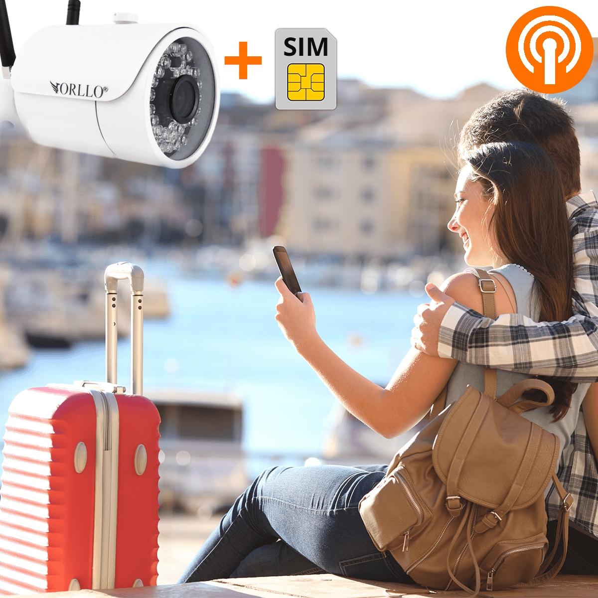 Kamera Zewnętrzna GSM SIM Router WiFi + Kamera 4MP Rozdzielczość 1.3 Mpx
