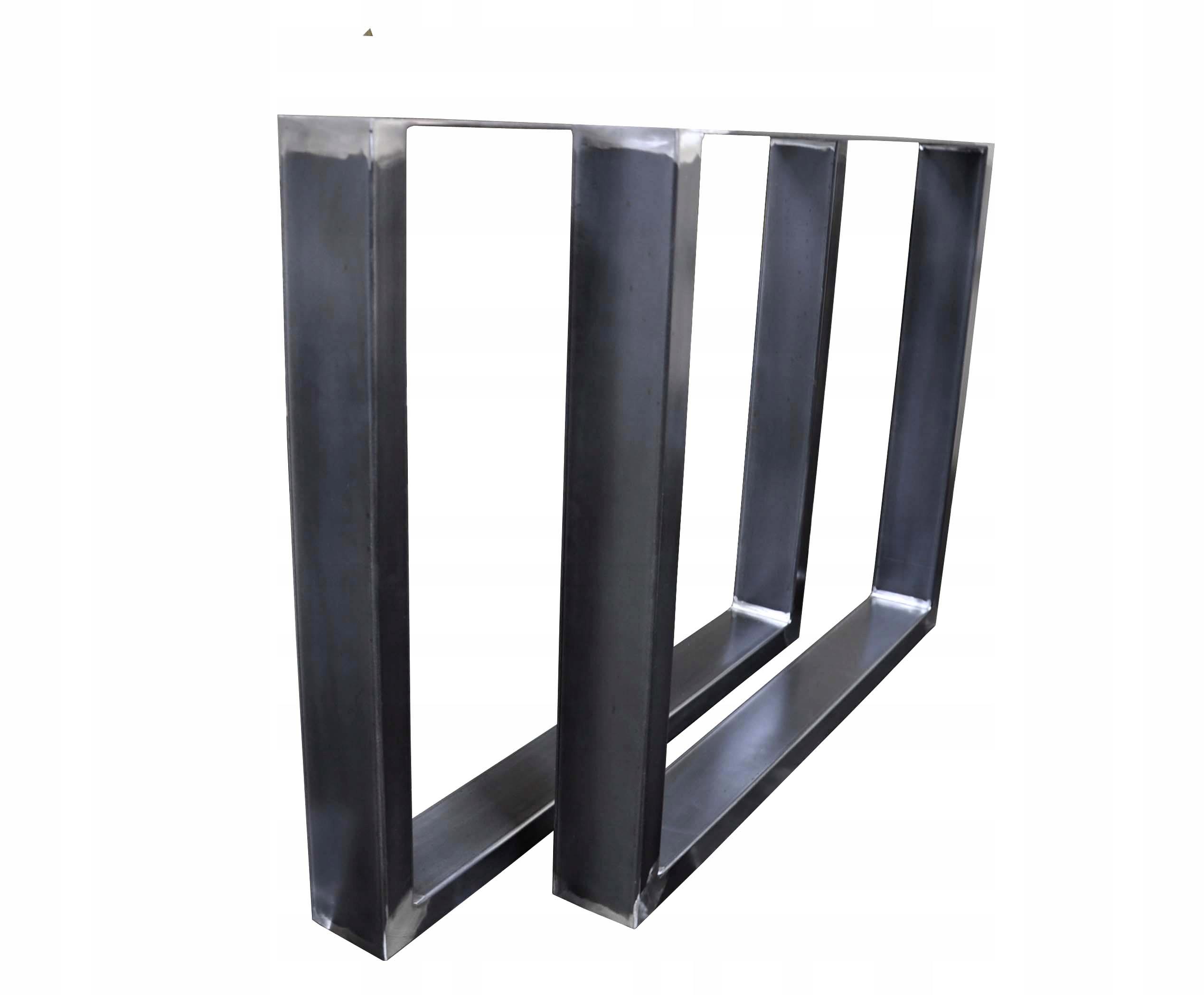 2x kovová stolová noha oceľ 80x72 cm (100x40)