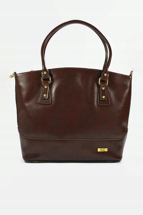 Hnedá kožená taška vintage ONA shopperka