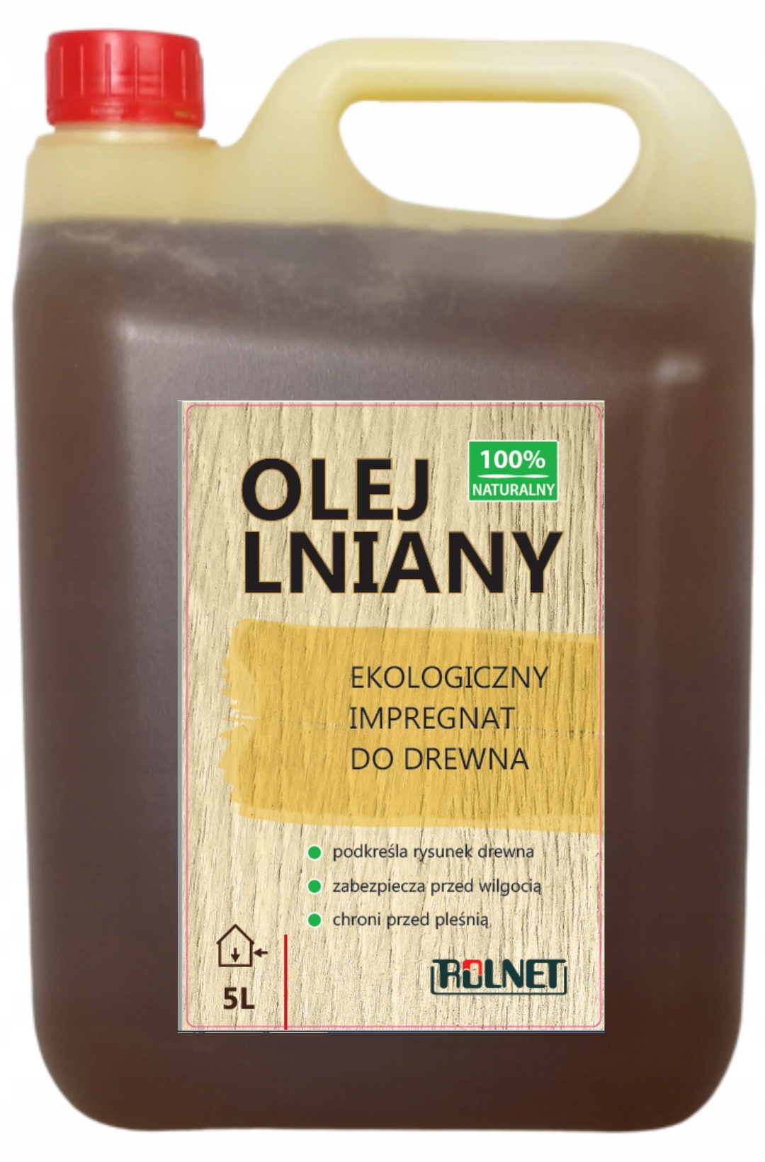 Льняное масло Пропитка для дерева, 100% натуральный 5л