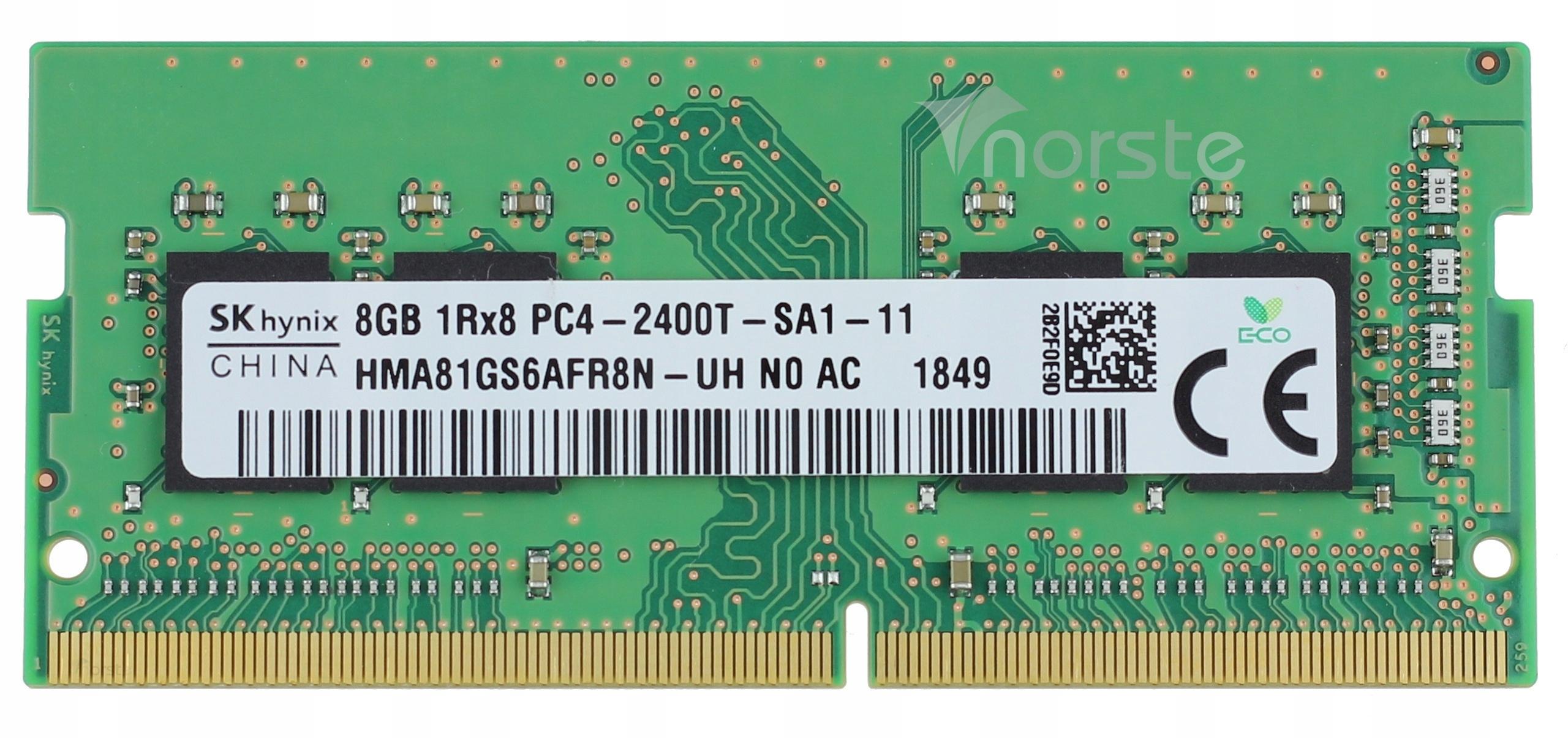 Купить НОВЫЙ 8GB 2400MHz HYNIX DDR4 PC4-2400T-SA1-11 AC FV на Otpravka - цены и фото - доставка из Польши и стран Европы в Украину.