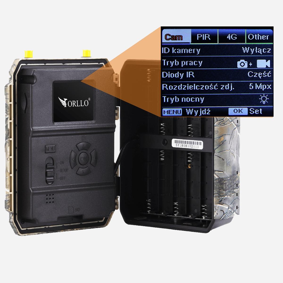 Fotopułapka Kamera Leśna SIM GSM GPS+Panel Solarny Model HUNTERCAM PRO