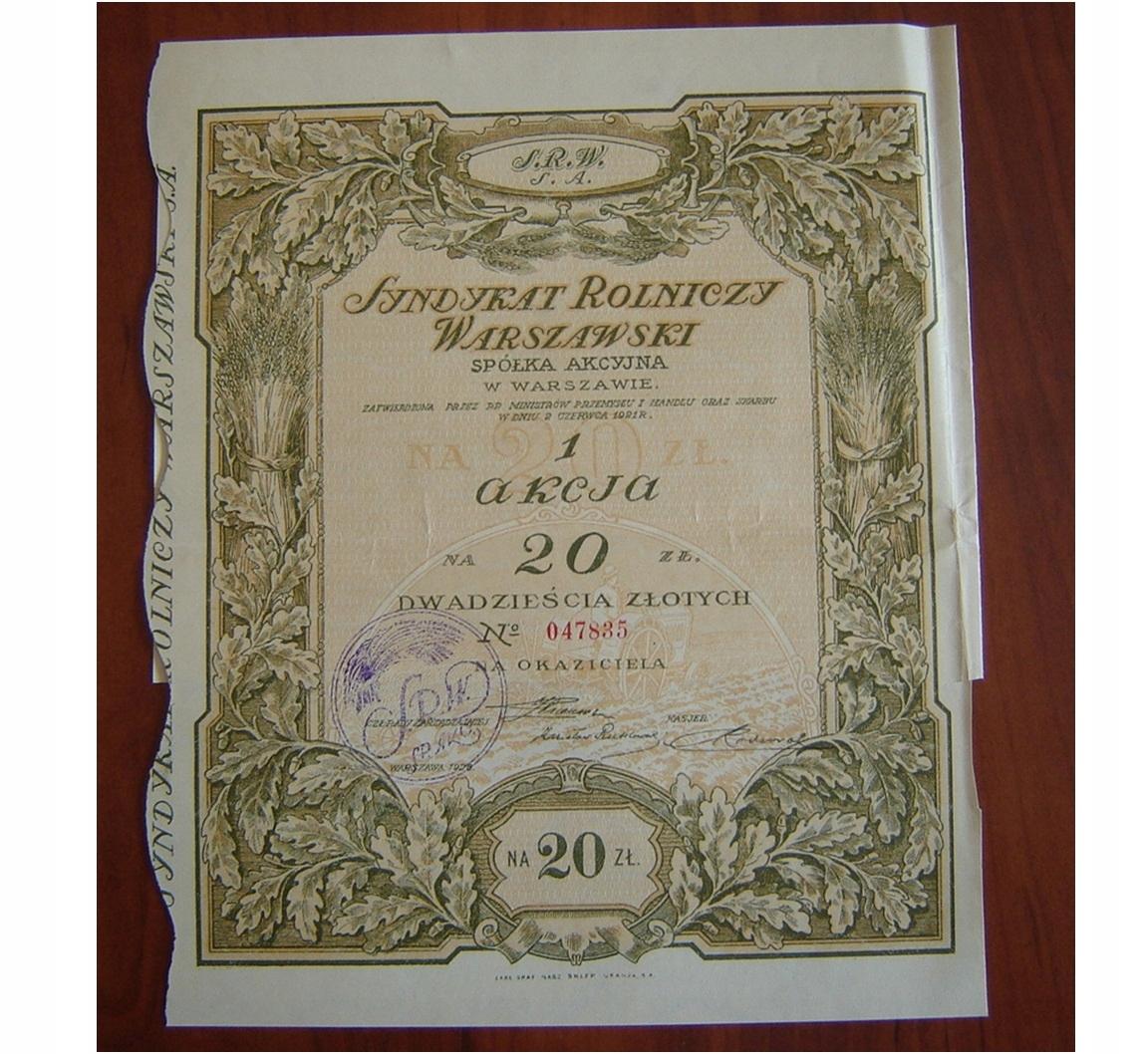 Купить Синдикат Сельскохозяйственный Варшавский S. A. в Варшаве 1926 на Otpravka - цены и фото - доставка из Польши и стран Европы в Украину.