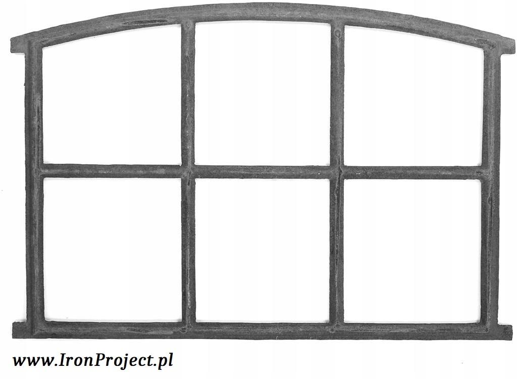 NOVÉ liatinové retro polkruhové okno 83x60cm