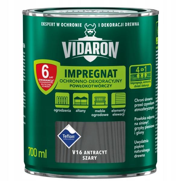 VIDARON Импрегнат декоративный 0.7 Л Антрацит-Серый