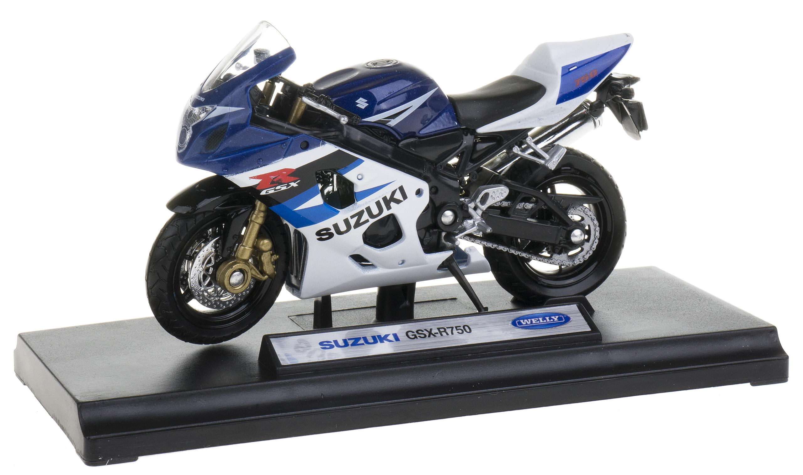 SUZUKI GSX-R750 MODEL METALOWY WELLY MOTOR 1:18