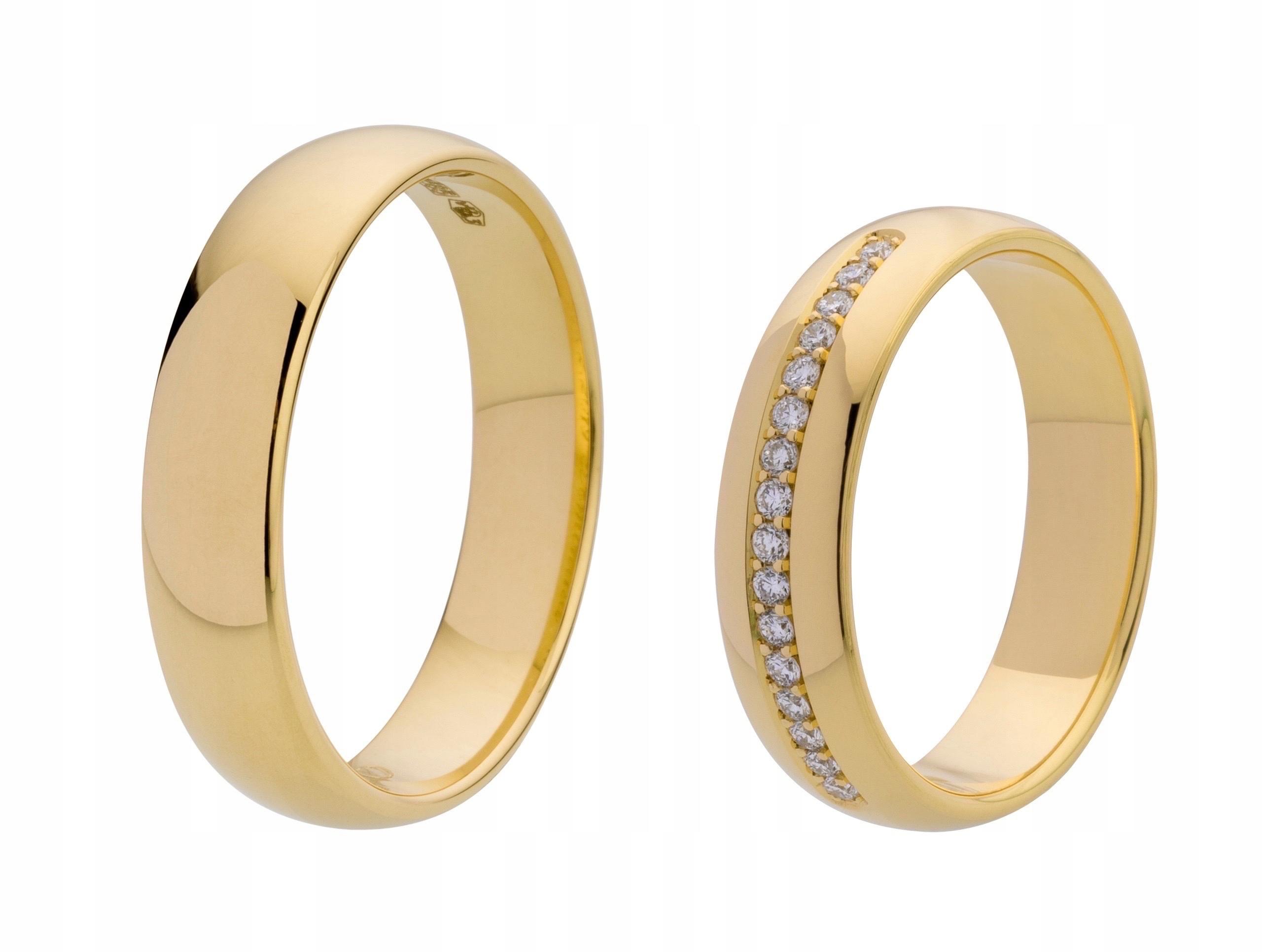Item GOLD 585 wedding RING with 16 DIAMONDS 0.16 ct