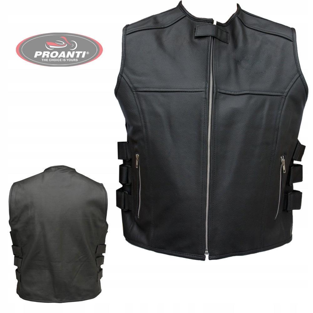 Жилет специальная одежда для мотоциклистов кожаная КОЖИ PROANTI 608