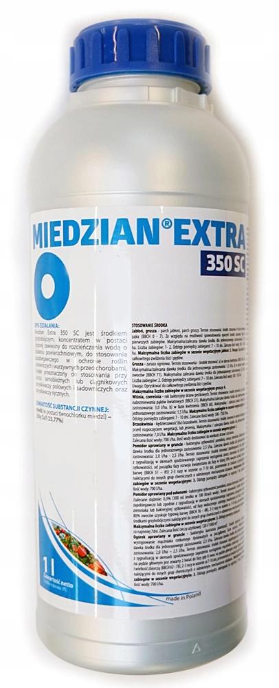 MIEDZIAN EXTRA 350 SC 1L mączniak parch zgnilizna