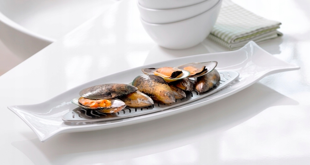 Porcelán servírovací tanier Na Ryby s Vložkou Premium