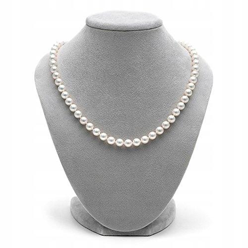 Elegantný perlový náhrdelník Akoya 7 mm, certifikát