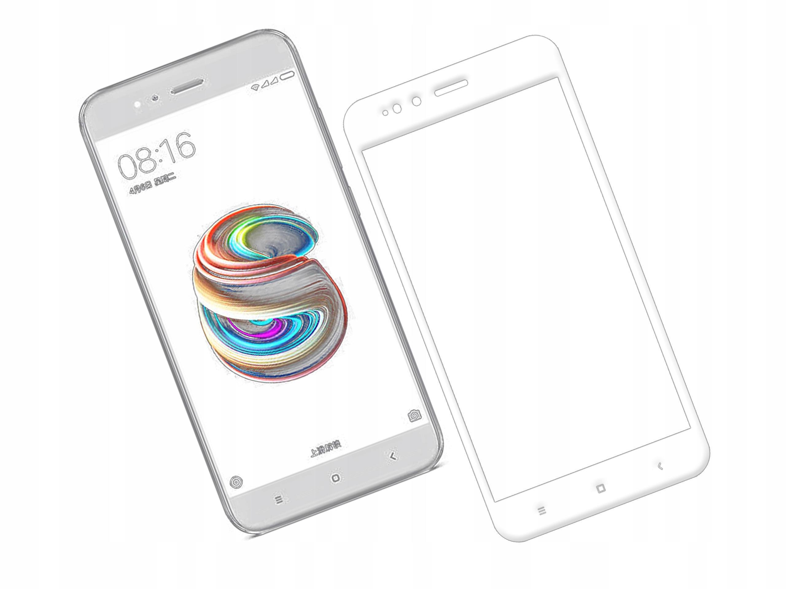 Szkło zaokrąglone 3D 9H Xiaomi Xiaomi Mi 5X Białe
