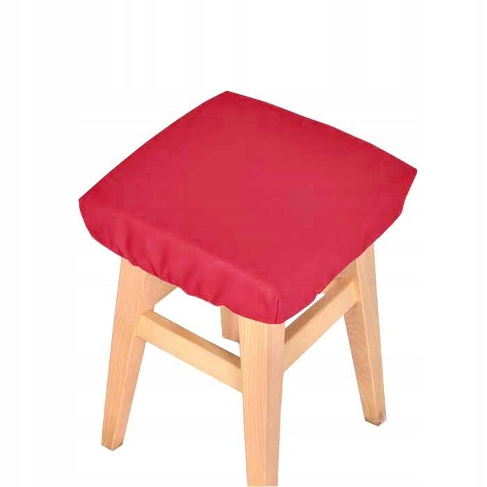 Kwadratowa poduszka taboret stołek 30x30 EKOSKÓRA