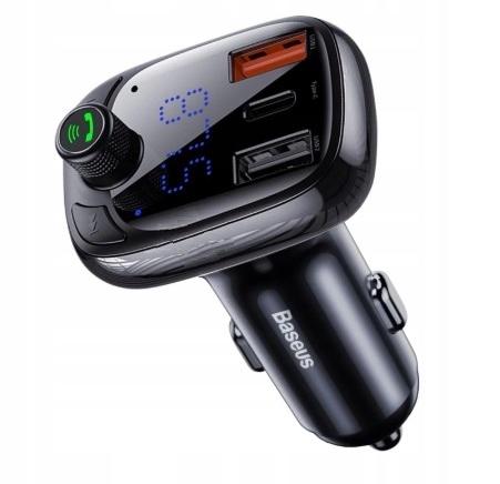 Baseus transmiter FM Bluetooth ładowarka QC 3 0 PD