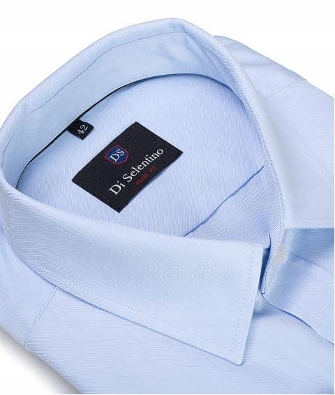 Męska Niebieska Koszula Bawełniana SLIM FIT 44 8733350957  gMtZY