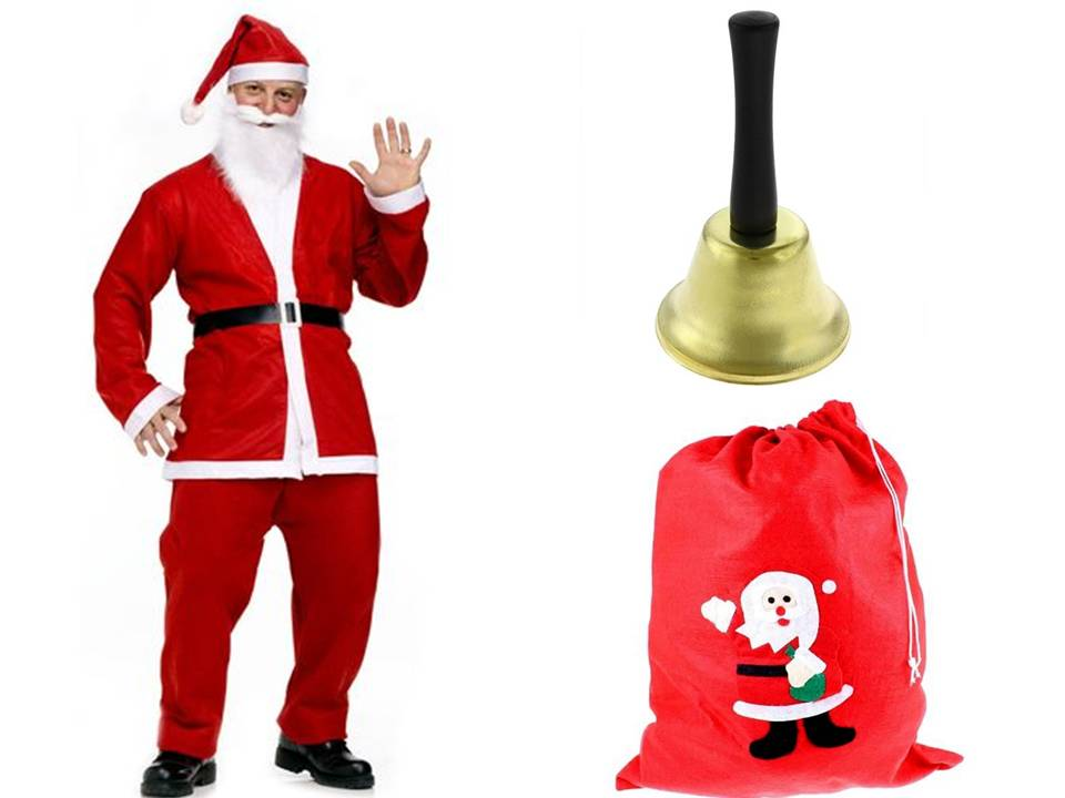 Санта-Клаус костюм Санта-Клауса колокольчик