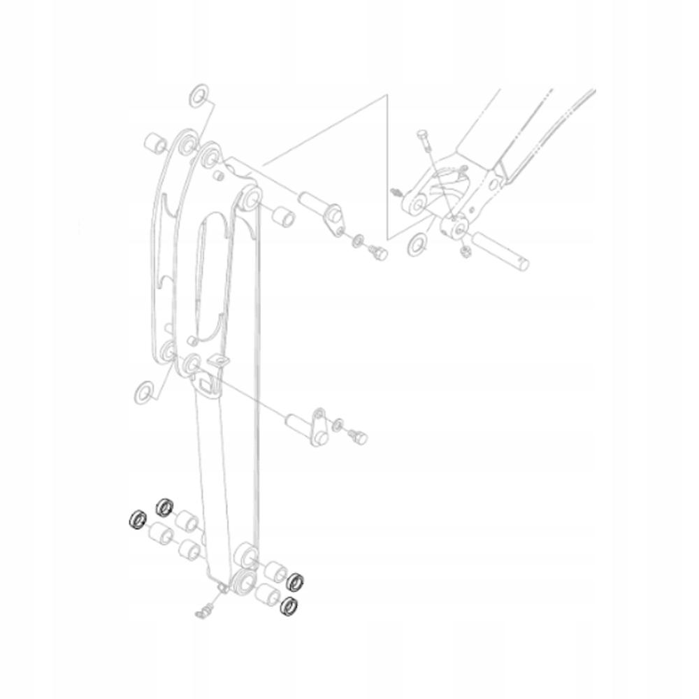 KUBOTA RG246-76530 Втулка рычага экскаватора KX018