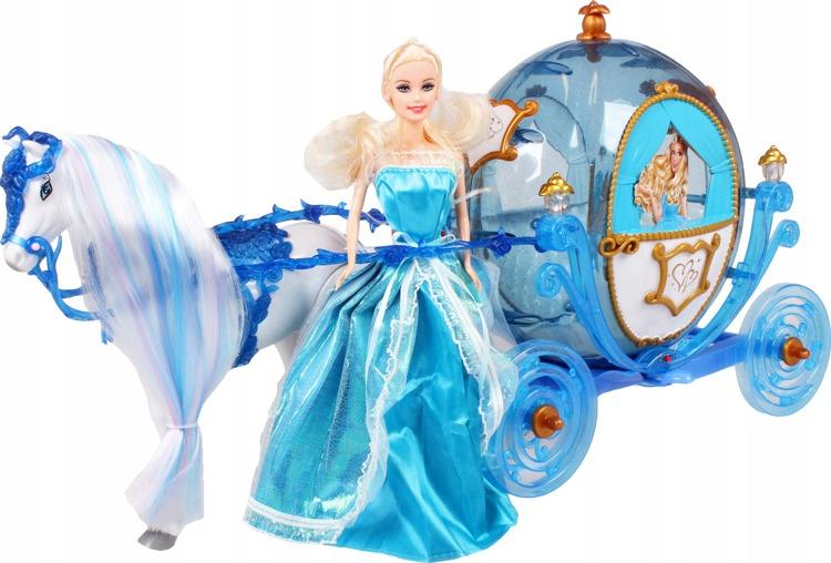 Bábika krajiny ľadu s koňom a kočom