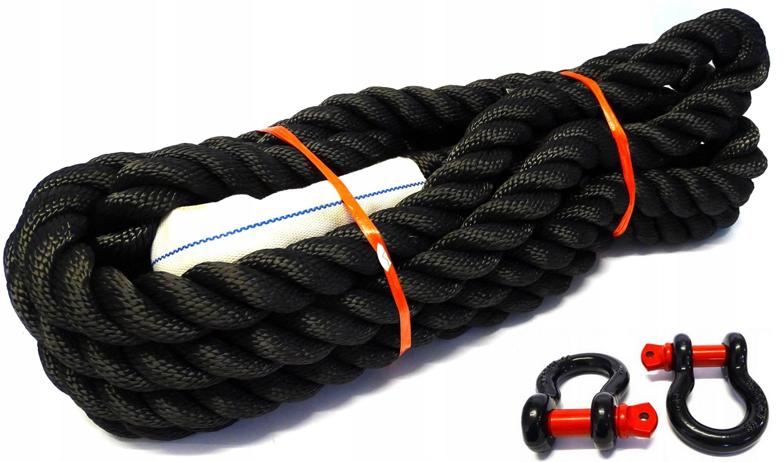 KINETIC Веревка KINETIC 4X4 + 2 ВЗЛОМА 32 мм x 8 м 22Т