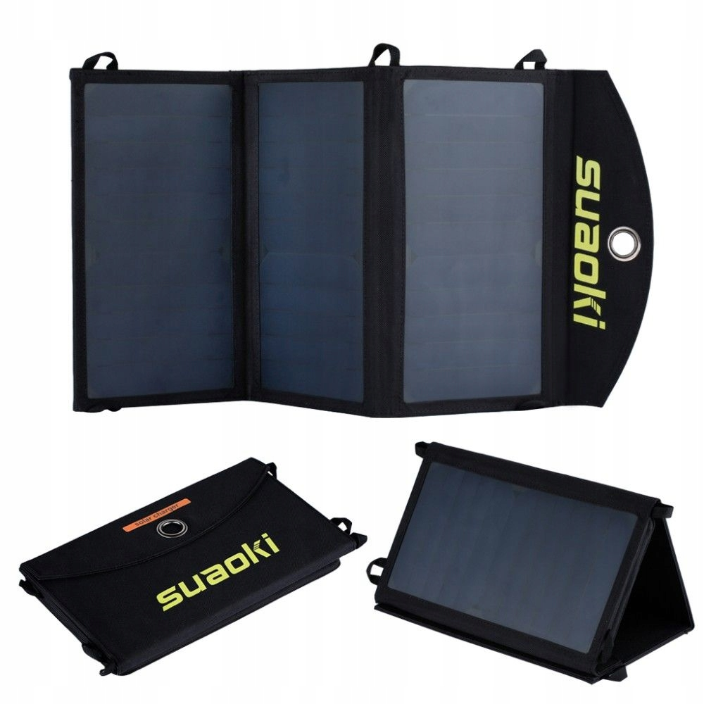 USB nabíjačka, solárny panel 20W skladacia taška