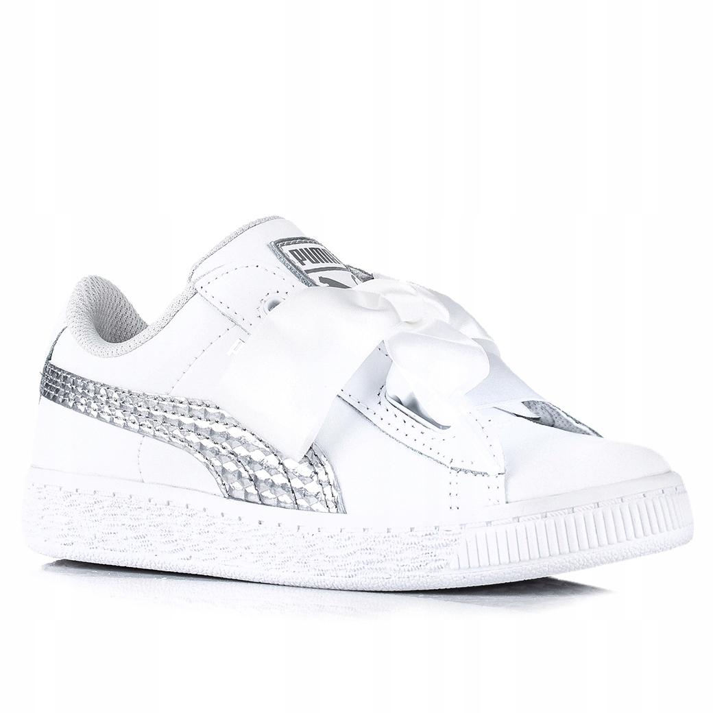 Buty dziecięce Puma Basket Heart Coated 368975