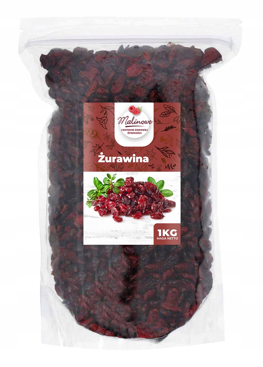 Item CRANBERRIES DRIED 1KG EDGED NATURAL HIGH QUALITY
