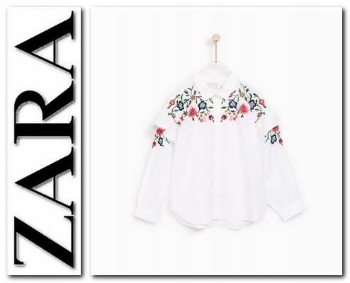 tričko zara haftowana 134 9 rokov, NOVÉ