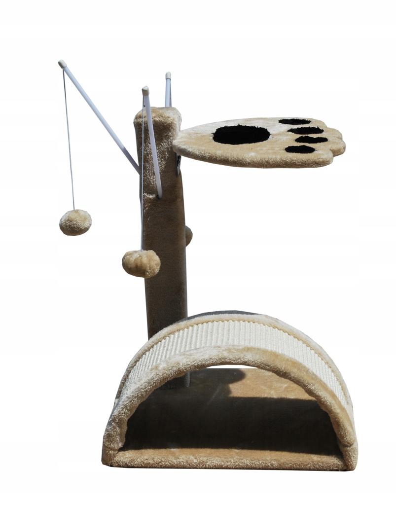 Škrabadlo pre mačky domáce brloh CAT-G-05 béžový typ škrabadlo nízke škrabance na rohože škrabadlo veže