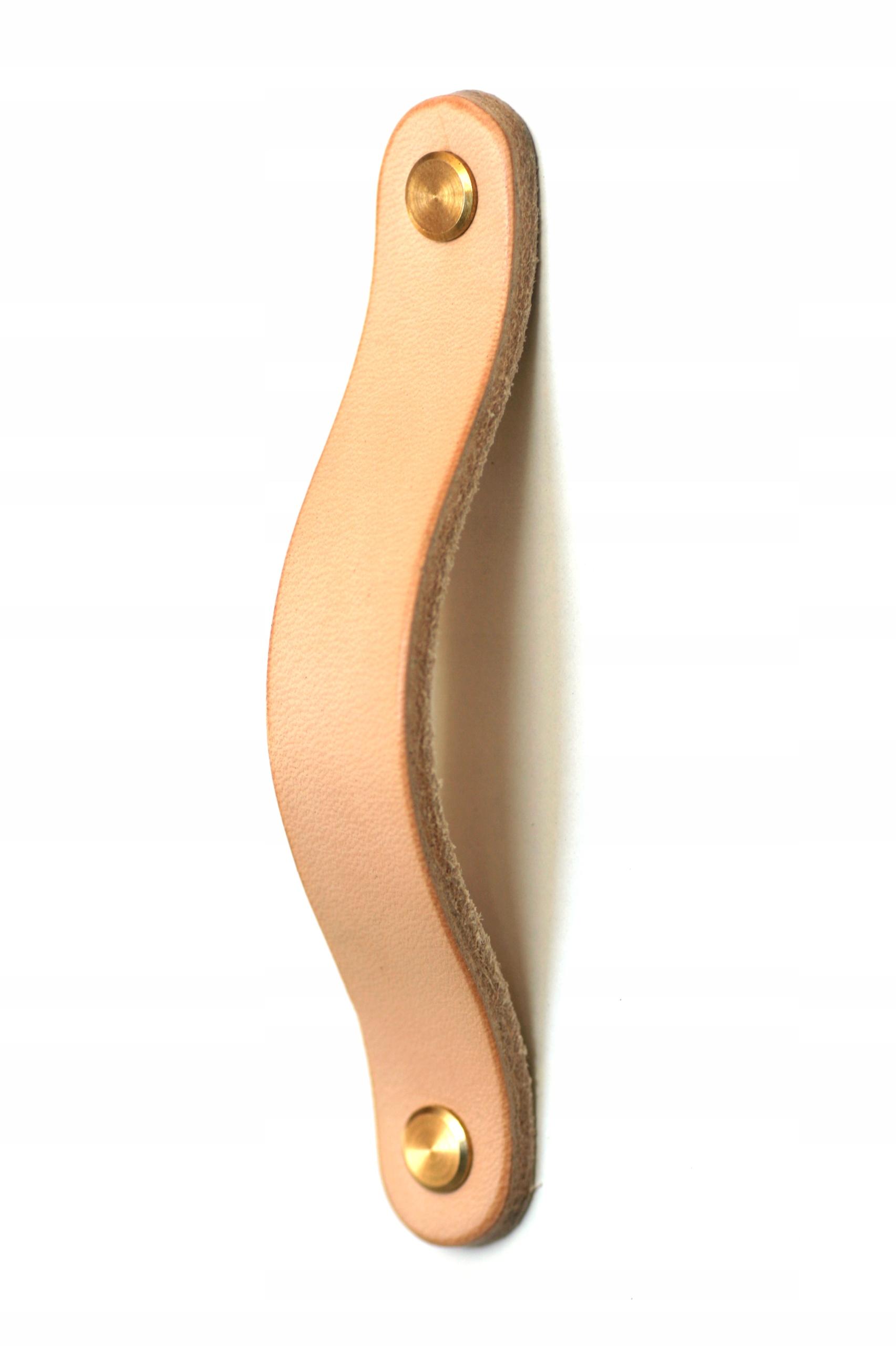 Ручка мебельная кожаная, для мебели, 128мм, ЦВЕТА!