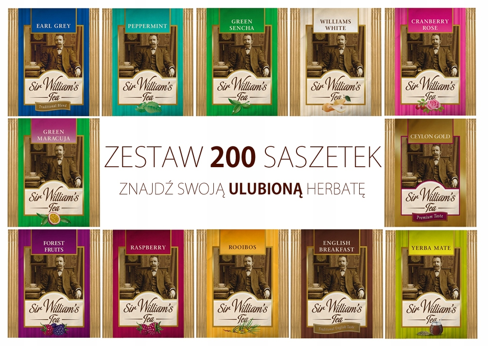 Купить Сэр Уильямс Tea выберите 200 чаев с 14 вкусов на Otpravka - цены и фото - доставка из Польши и стран Европы в Украину.