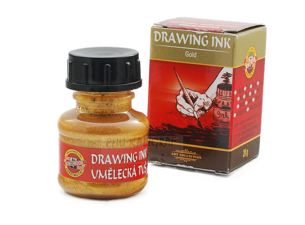 Item INKS TO DRAW. GOLD CALLIGRAPHY DECORATIONS KOH-I-NOOR