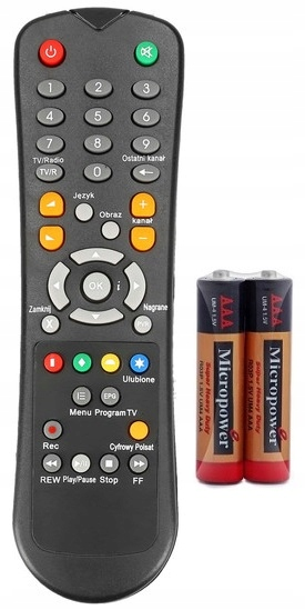 POLSAT HD5000 HD2000 DIGITAL DECODER REMOTE CONTROL + БЕСПЛАТНО