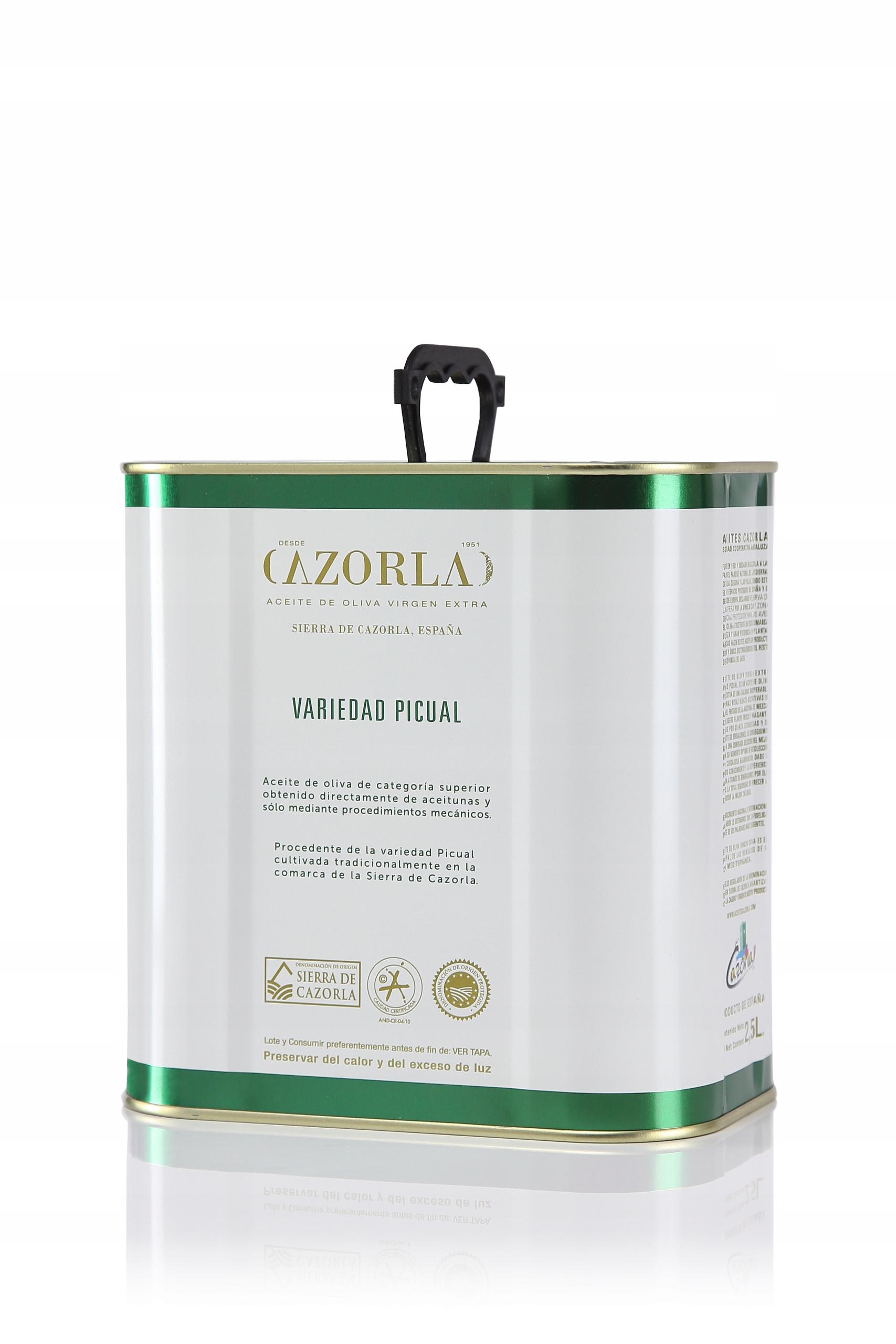 AVŠAK, CAZORLA extra panenský španielskych olív, 2.5 L