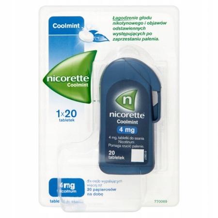 Купить Никоретте Coolmint 4 мг 20 таблеток для сосания на Otpravka - цены и фото - доставка из Польши и стран Европы в Украину.