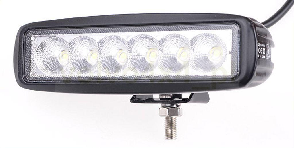 LAMPA COFANIA BOCZNA ROBOCZA LED 18W 12V 24V 4x4