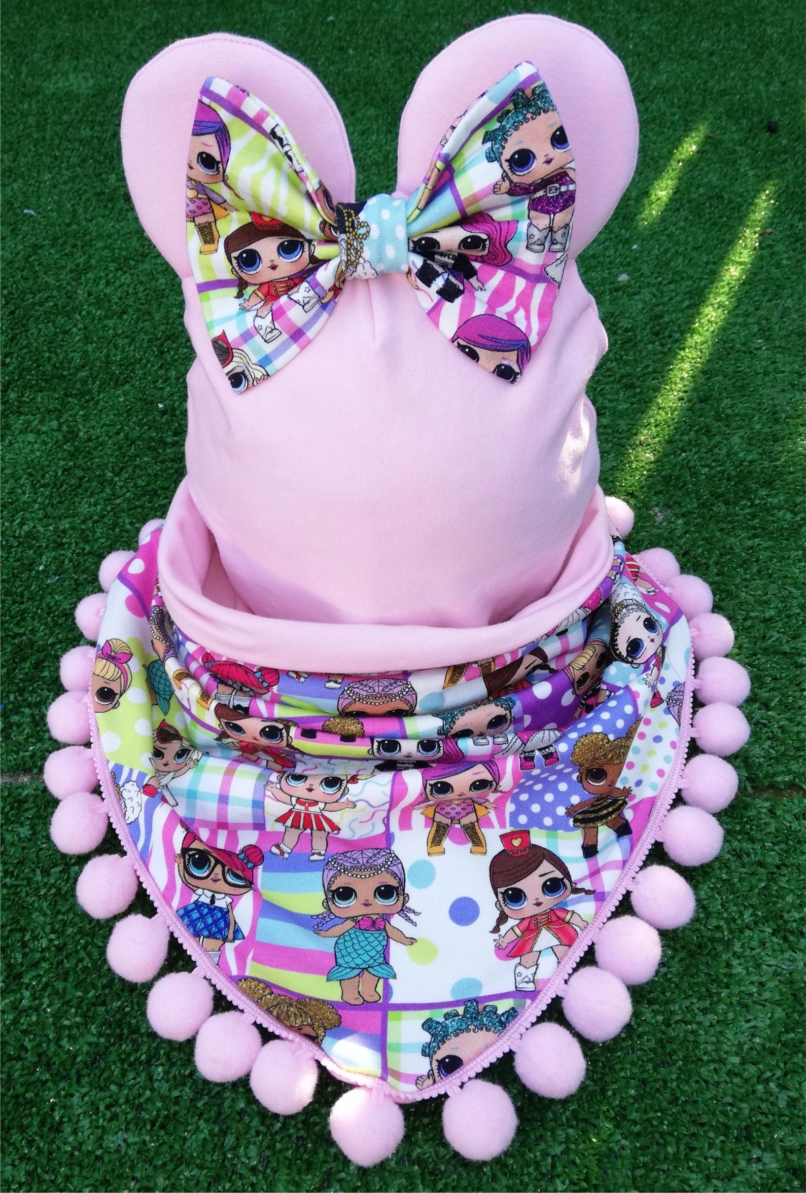 Jarná sada: čiapka so šálom PINK LOL